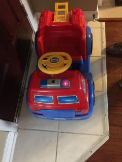 Fisher Price Power Wheels Paw Patrol Fire Truck battery good needs charger Cross Posted Hernando