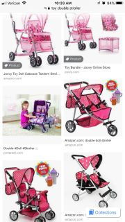 ISO TOY double baby doll stroller