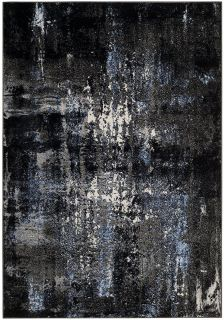 (2) 6x9 Safavieh Modern Abstract Black/Grey & Blue Area Rugs