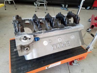 Brodix 5.0 bore space BBC block w/cam, rods, pistons