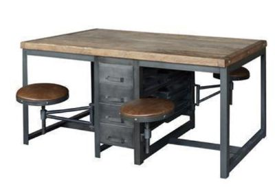 Hughes Rupert Work Table-Rustic