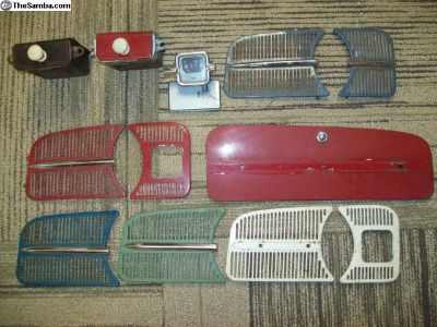 Dash grills, glovebox door, ashtrays, gas gauge