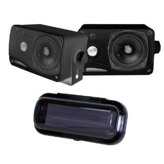 "Buy Pyle Marine Audio PLMR24B 3.5"" Weatherproof Mini Box Speaker Radio Shield Gasket motorcycle in Nixa, Missouri, United States, for US $36.28"