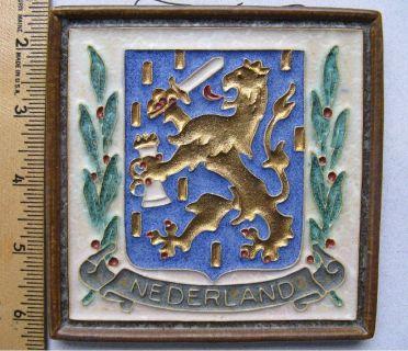 * ~ ~ ~ Vintage De Porceleyne Fles Cloisonne Art Tile ~ ~ ~ *