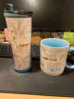 Starbucks Travel Mug and Coffee mug