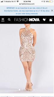 Gold sequin fashion nova dress brand new