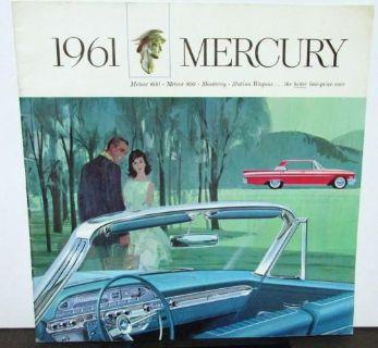 Buy 1961 Mercury Dealer Prestige Sales Brochure Meteor Monterey Station Wagon Large motorcycle in Holts Summit, Missouri, United States