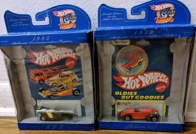 Hot Wheels Cars In Box Oldies But Goodies Auburn 852 and XT-3 Used