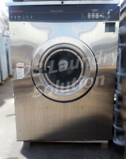Fair Condition Speed Queen Front Load Washer 80LB 1/3 PH 220V SCN080JCFX11001 AS-IS