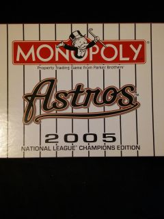 Houston Astros Monopoly 2005 National League Champions Edition