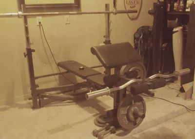 Home Gym, free weights.