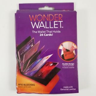New Wonder Wallet - RFID Blocking - holds 24 cards. 2 Available