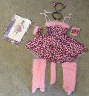 Adorable PURTY KITTY 7 pc Costume Size Sm (6-
