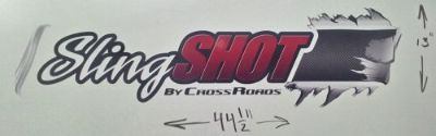 Find 2 SLINGSHOT by CROSSROADS RV MOTORHOME CAMPER LOGO DECAL BLACK RED 13X45 GRAPHIC motorcycle in Fremont, Indiana, United States, for US $36.99