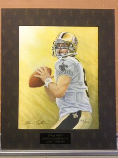 Drew Brees Art Print Signed by Artist