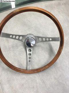 "15"" Superior Wood Steering Wheel Rare"