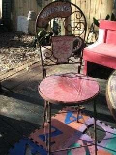 Wrought Iron Folding Pub Table  Chairs
