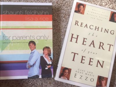 Teen parenting books-$3 for set