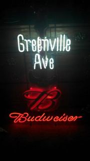 REDUCED Unique Neon Budweiser Beer Light Guitar Sign
