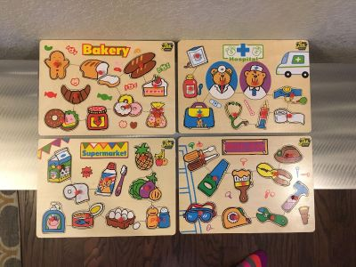 Toddler Wood Puzzles, has all pieces