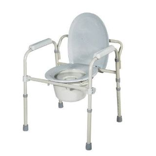 ALL-IN-ONE STEEL COMMODE