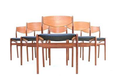 Mid Century Dining Chairs By Vamdrup Stolefabrik