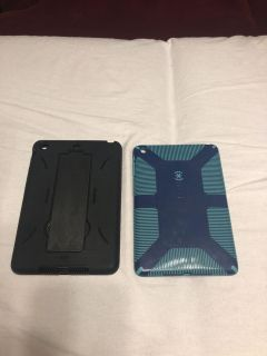 2 cases for mini iPad, black with a stand, EUC $4.00 Ea or both for $6.00