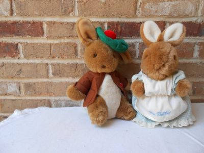 Beatrix Potter Plush Benjamin Bunny and Mrs. Rabbit