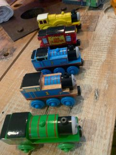 Lot of Thomas and Friends Trains - 2 Thomas, Molly, Percy, Birthday Caboose in loved Condition but tons of life left! see pics