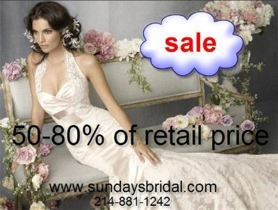 --50-85 off Retail price wedding dress, gown SALE -- from-
