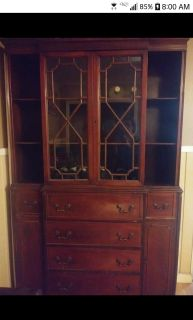 Antique Hutch or display cabinet