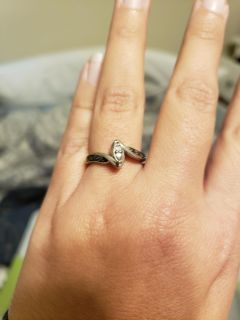 Silver ring, size 7