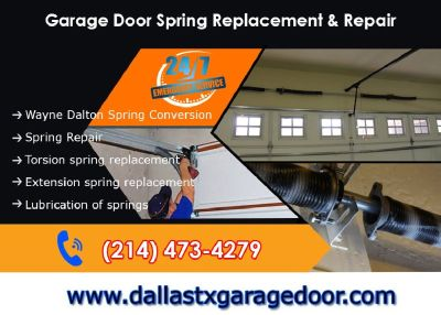 #1 Garage Door Spring Repair within 1 hour $25.95 Dallas, 75244|Texas