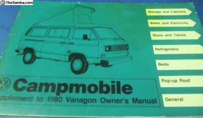 VanagonCamperSupplement&Pouch1980:NOS