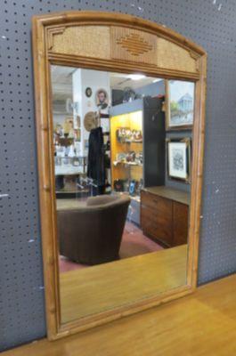 Vintage Mid century Drexel bamboo/rattan mirror