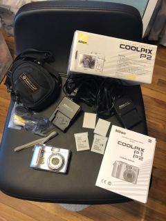 Nikon CoolPix P2 camera & all accessories included!