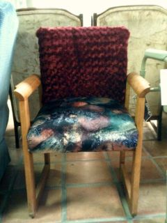 Chair, cloth covered