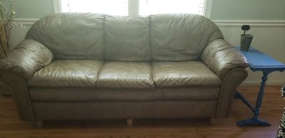Free Leather Couch, Chair & Ottoman