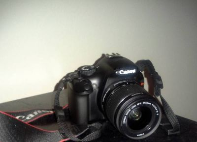 Canon Rebel T3 camera with 2 lenses and accessories