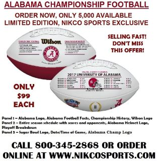 Alabama Crimson Tide '18 National Championship Football