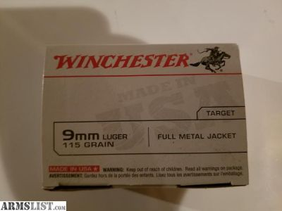 For Sale: Winchester 9mm 900 rounds