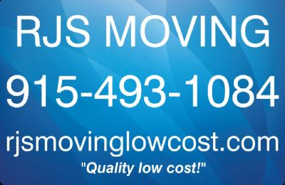 RJS MOVING SERVICES - Rates starting at $20 per hour!! (915-493-1084)