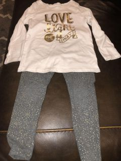 Cat and Jack Toddler girl outfit 3T