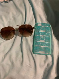 Sunglasses and phone case