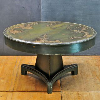 Mid-Century 1920s Chinoiserie Relief Table