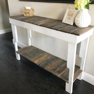 Pallet sofa / entryway table. Priced to sell. Moving ASAP.