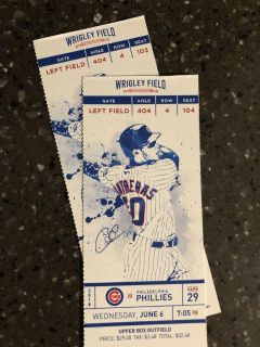 JUNE 6th Chicago Cubs!!!!!