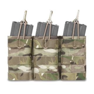 Warrior Assault System Triple Molle Open M4 Pouch MC