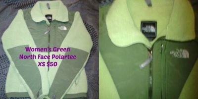 Northface XS Green Polartec Jacket
