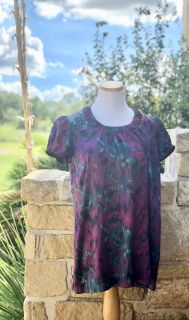 Womens Motherhood Maternity Flowy Watercolor Top - Sz S - Can Be Worn non maternity